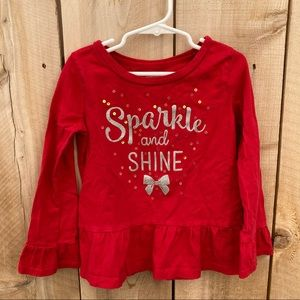 Carter's size 6 6x sparkle and shine long sleeve